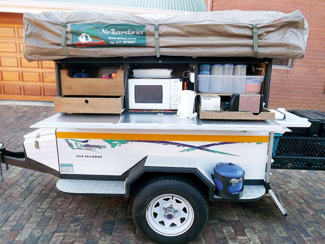 Reader DIY: Tent Trailer Built For Namibia