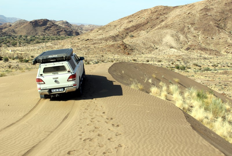 Dune driving near Daberas Guest Farm