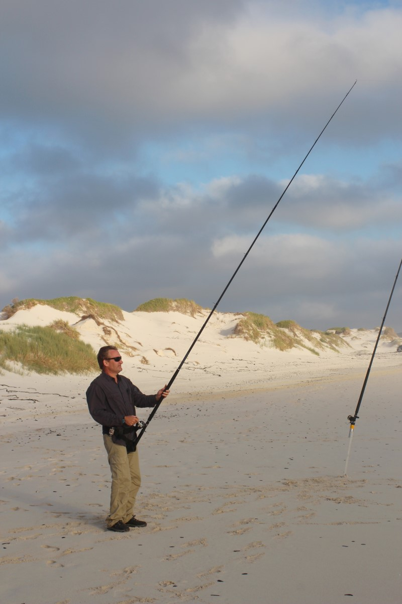 Fishing near Die Dam, between Gansbaai and Struisbaai in the Western Cape