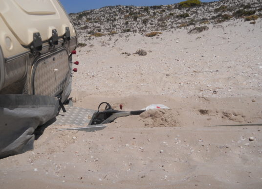 Towing stuck in thick sand