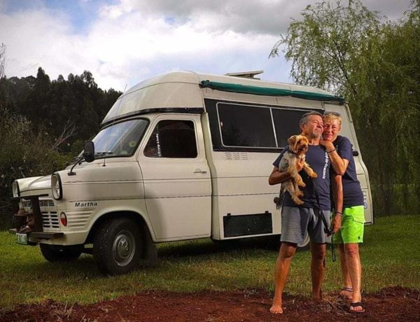 Modern Nomads in a 1970 Ford Transit